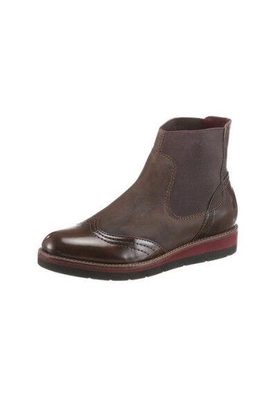Boots, chelseaboots de Tamaris de cuero con piel de imitación, negro!!!