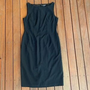 Howard-Showers-Size-12-Black-Shift-Dress-Sleeveless-Lined-Cocktail-Business