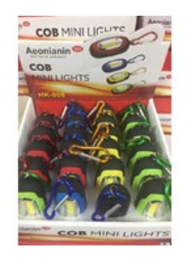 24 Led Mini Cob  Lights Magnetic W caribiner Flashlight  be in great demand