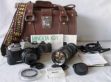 VINTAGE MINOLTA XG1 35MM SLR CAMERA CHINAR 85-210 MACRO ZOOM LENS BOOKS EXTRAS