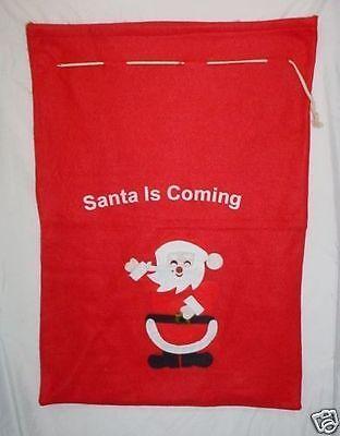 Importato Dall'Estero 80 Cm X 56cm Santa Sta Giungendo Gigante Natale Sack (c4)-mostra Il Titolo Originale