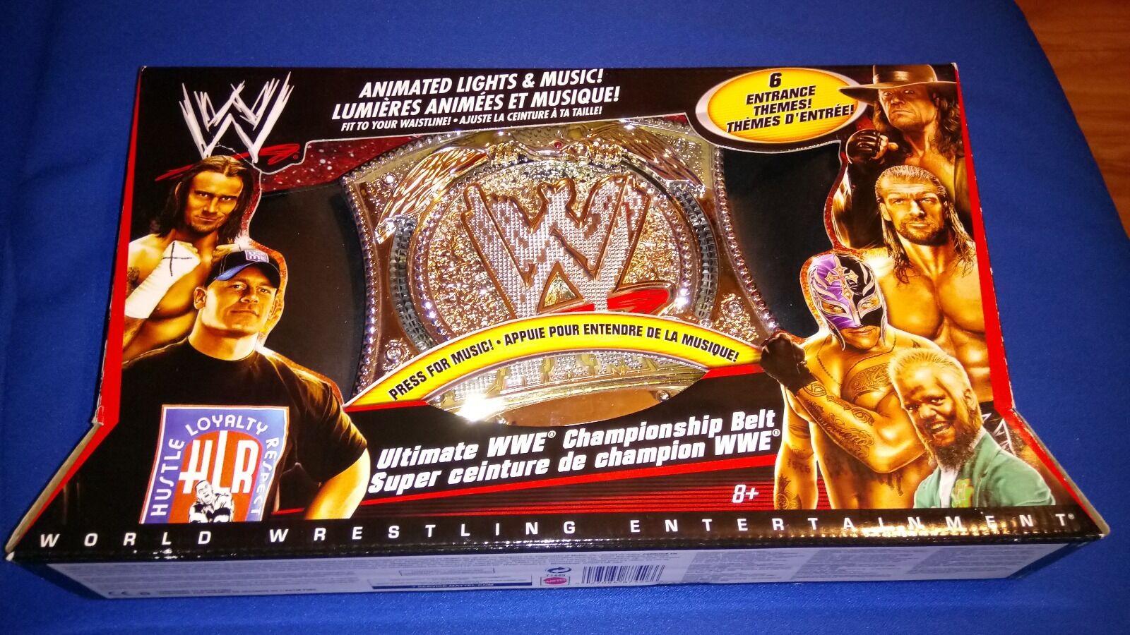 LAST ONE NEW RARE WWF WWE Mattel World Champion Spinner Toy Belt SOUNDS LIGHTS