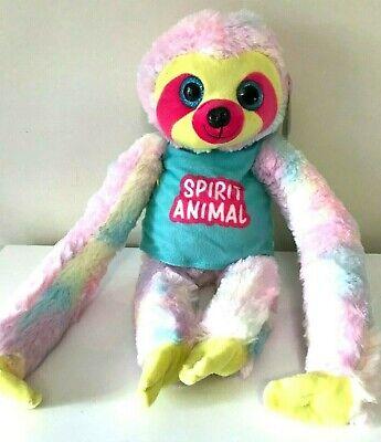 "Soft NWT 19/"" Long Xlarge Sloth Plush Pink in Beach Patrol Shirt"