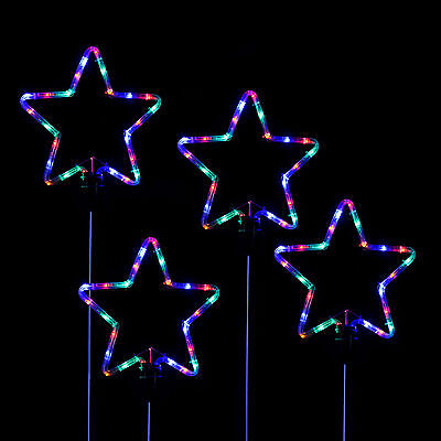 Indoor/Outdoor LED Rope Light Silhouettes Christmas Decorations, Star Snowflake
