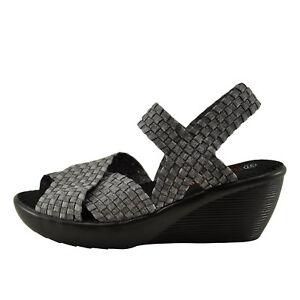 0346d457256 Details about Bernie Mev Fresh Buttercup Heather Grey Women's Criss Cross  Wedge Sandal