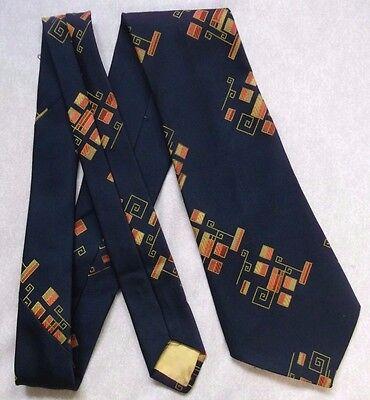 Brioso Vintage Tie Cravatta Da Uomo Ampia Retro Fashion Nota Chiave Blu Navy Scuro-mostra Il Titolo Originale Con Una Reputazione Da Lungo Tempo