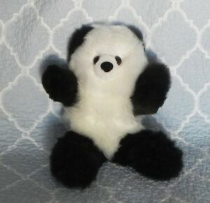 Rare One Of A Kind Handmade Black 100% Alpaca Bear Artist