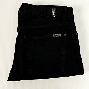 7 For All Mankind Slimmy Mens Black Jean Size 33