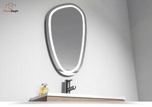 specchio led bagno 80 x 45 design moderno installazione varie ... - Specchi X Bagni Moderni