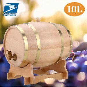 10L-Wood-Oak-Timber-Wine-Barrel-For-Beer-Whiskey-Rum-Port-Wooden-Keg-with-Stand