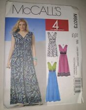 Mccall's M6073 Misses Easy Maxi Dress in 3 Lengths Sewing Pattern Size 8-16