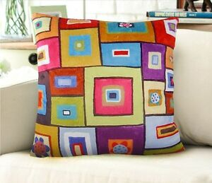 Squares-Abstract-VELVET-PILLOW-COVER-FOLK-ART-PRIM-Various-sizes-Karla-Gerard