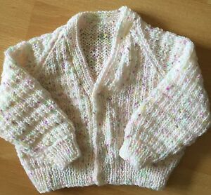 BN HAND KNITTED PRETTY MULTI COLOURED CARDIGAN 612 MONTHS Free Postage - <span itemprop='availableAtOrFrom'>CRAWLEY, United Kingdom</span> - BN HAND KNITTED PRETTY MULTI COLOURED CARDIGAN 612 MONTHS Free Postage - CRAWLEY, United Kingdom