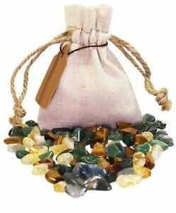 Abundance Power Pouch Healing Crystals Stones Set Tumbled Natural Gemstones