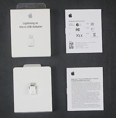 Genuine Apple 8 Pins Lightning to Micro USB Adapter for iPhone/iPadMini/Air/iPod