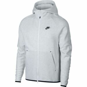 Details about New Men's Nike Tech Fleece Full Zip Hoodie 928483 051 Birch Heather Black XXL