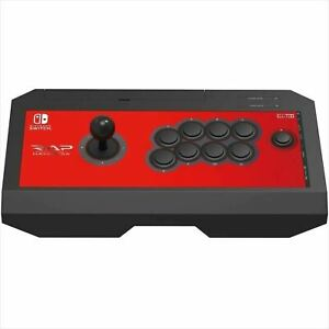 Nintendo-Switch-NSW-006-Real-Arcade-Pro-V-HAYABUSA-HORI-Red-Controller-Japan