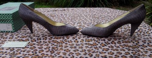 en serpent Vintage J 7 de cuir de gris Chaussures Renee peau Uk 40 taille 14xAqp