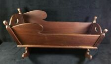 Antique Handmade Walnut Doll Cradle Mortised & Glued 13.5 x21 x11.5 Inch V FINE