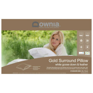 Downia-Gold-Collection-Luxury-White-Goose-Down-amp-Feather-Pillow-RRP199-95