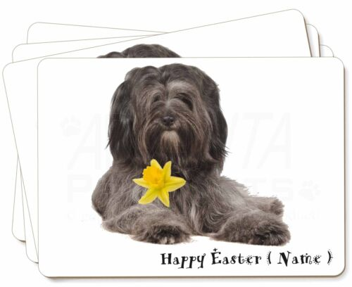 Personalised Tibetan Terrier Picture Placemats in Gift Box, ADTT2DA2P