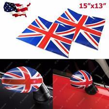 2x Union Jack UK Flag Vinyl Stickers For Mini Cooper Side Mirrors (Left & Right)
