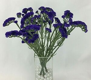 3 X Artificial Flower Forget Me Not Bunch With 5 Stems For Flower Arrangement Ebay