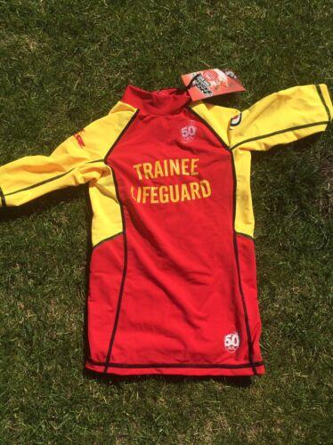 No Fear Rash Vest Trainee Lifeguard 13 Years Xlb New