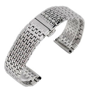20/22mm Silver Stainless Steel Watch Band Men Watch Band Wrist Strap Bracelet HQ
