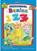 Preschool Basics, Children Workbooks Learning Numbers Math Toddlers Kids