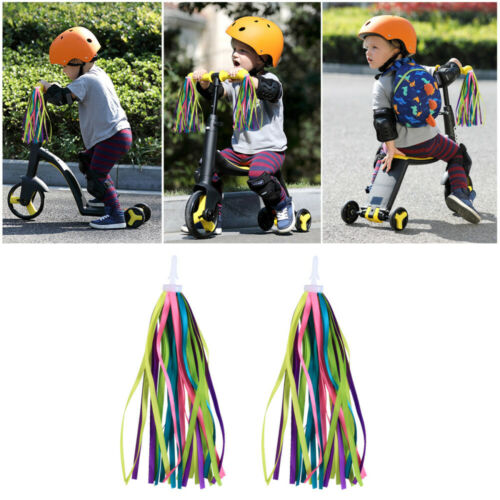 2 Pcs Bike Handlebar Streamers Delicate Tassel Ribbons Bicycle Grips Tassels