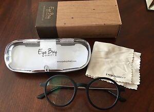 c3ebd77ed8 Eye Buy Direct Potter Black RX Designer Eyeglasses Frames 50 18~138 ...