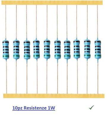 10pz RESISTENZE 1W 2,7M ohm 5/% 1//5153