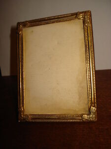 Antique Art Deco Desk Photo Picture Gilded Frame 4