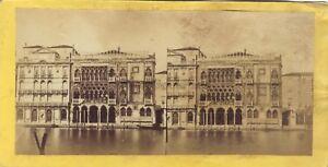 Palais Venezia Italia Foto Stereo Vintage Albumina Ca 1860