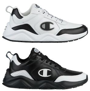 c1ae407a7e5 New CHAMPION Classic Leather Logo C Mens 93Eighteen Sneakers black ...