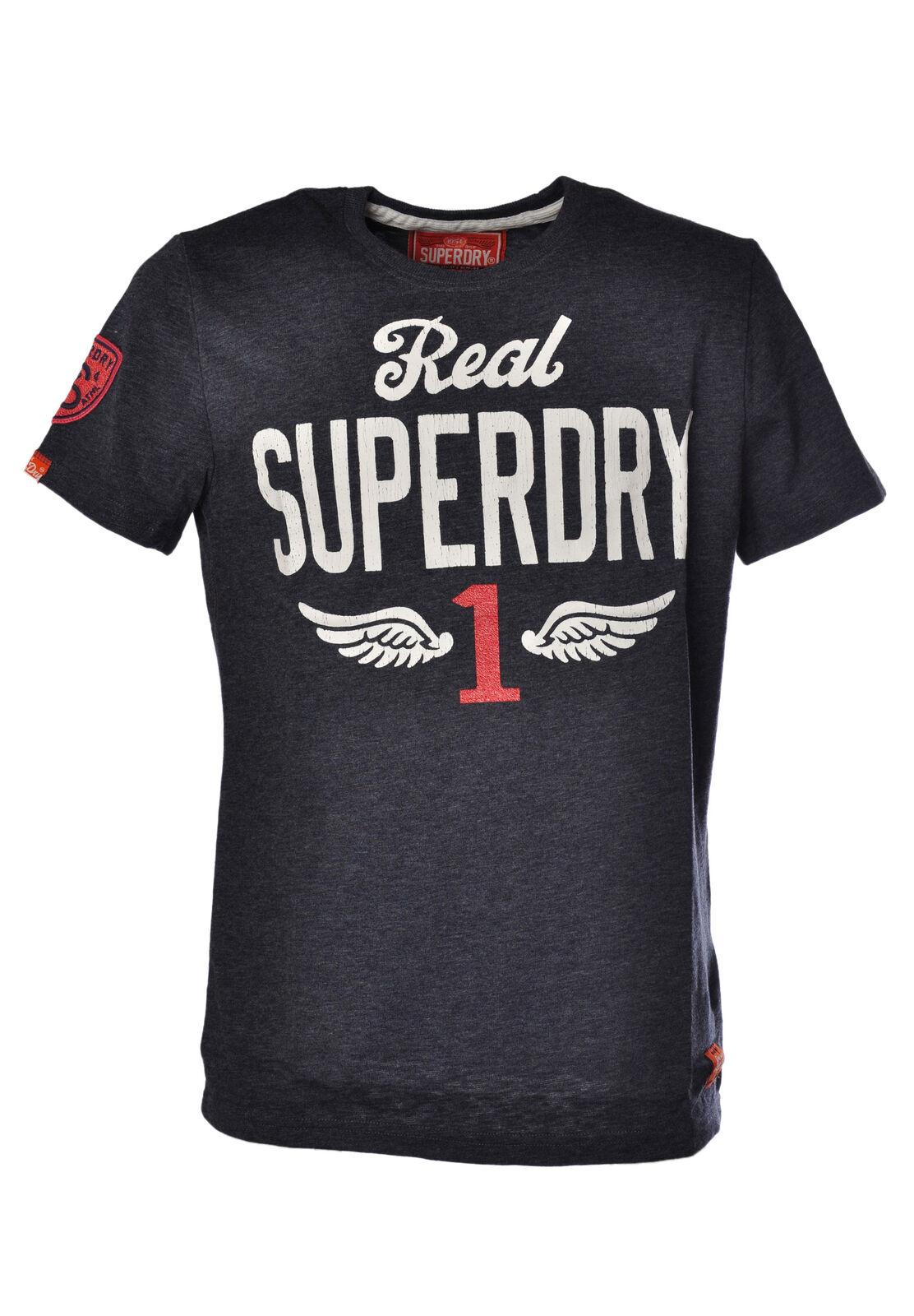 Superdry - Topwear-T-shirts - Man - Blau - 1035018C184444