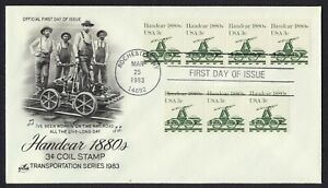 #1898 3c Handcar, Arte Craft-Hand Cancelado FDC Cualquier 4=