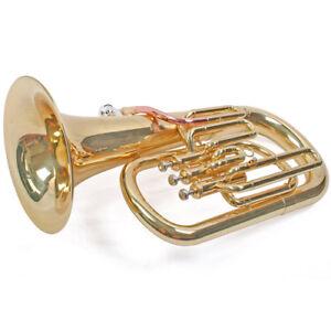 Karl-Glaser-bb-Euphonium-baritonhorn-3-valvulas-de-bombeo-Monel-oro-de-laton-boca-de-tubo