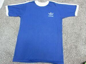 c0786be99 Vintage 70s Adidas Trefoil Blue Ringer USA Made Track T Shirt Men's ...