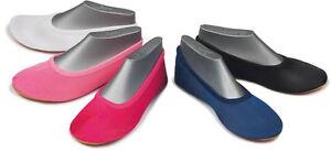 BECK Ballet vuelta Chanclas gimnástico Zapatos glanzsatin Rojo Negro Rosa Blanco