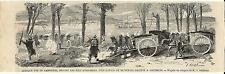 Stampa antica BATTAGLIA  AUSTRIACI e GARIBALDINI  Lago Maggiore 1859 Old print