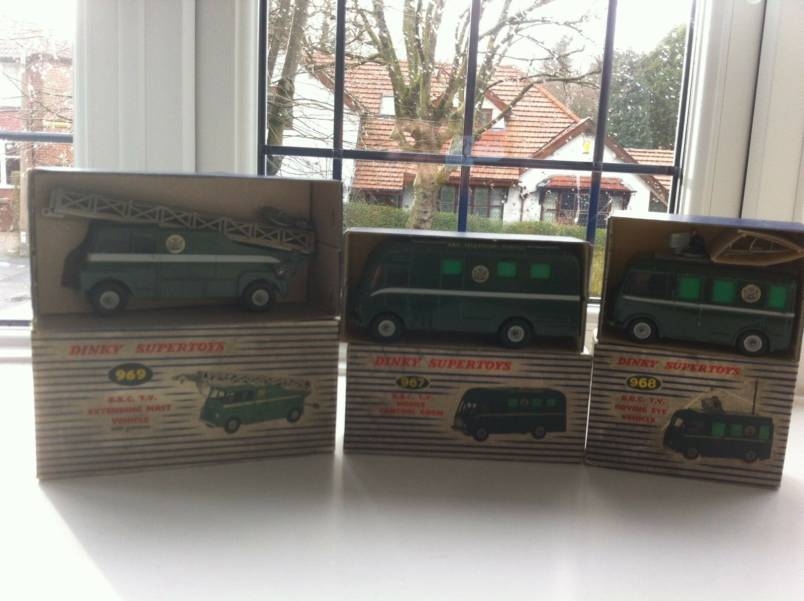 Dinky Toys BBC Outside Broadcast Complete Set of 3 - Boxed - Mint - Free postage
