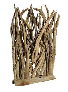 Treibholz Deko teakholz wohnraumdekoration skulptur raumteiler aus teak treibholz