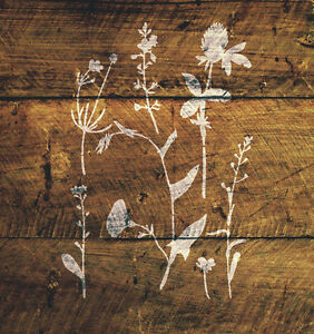 A4-Wild-Flowers-Stencil-Shabby-Chic-Furniture-Fabric-Garden-Vintage-MYLAR-WIL