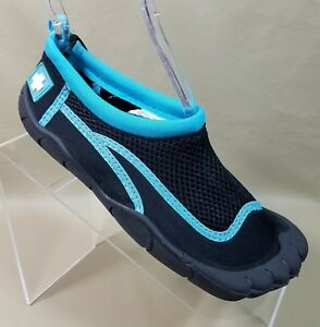 6d0d1d2e206e Lifeguard Mens Water Shoes Slip On Adjustable Light Blue Black Size ...