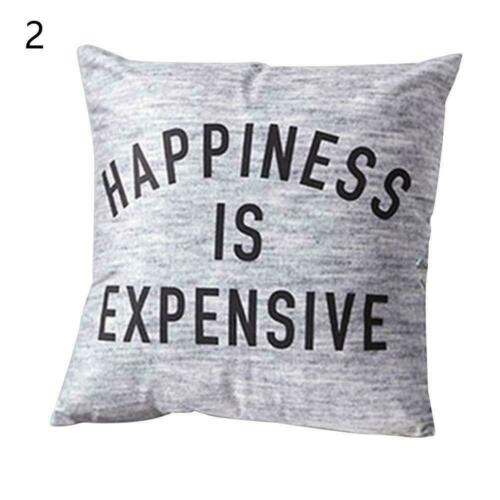 Romantic Grey Geometric Print Pillow Cover Sofa Cushion Cover Case Pillow A3E5