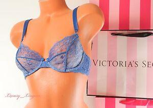 VS-VICTORIA-039-S-SECRET-Designer-Collection-Lace-Unlined-Demi-Bra-32D-98