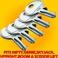 Nifty Boom Lift Key,set Of Five,also Fits Genie,skyjack,upright,boom & Scissors