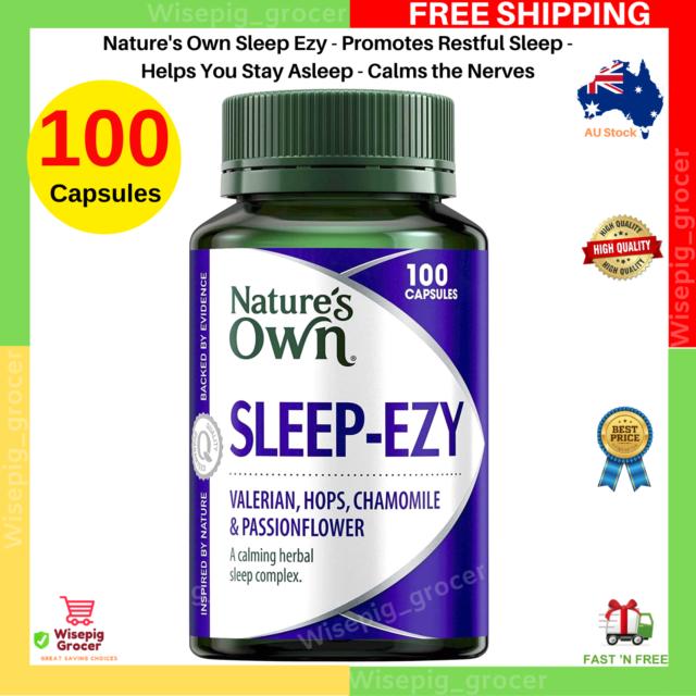 Nature's Own Sleep Ezy, Helps You Stay Asleep, Calms the Nerves, 100 Capsules AU